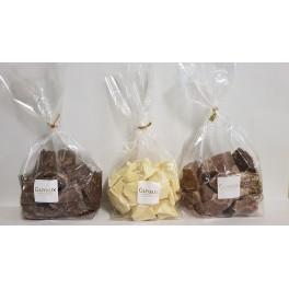 SACHET MORCEAUX DE COUVERTURE DE CHOCOLAT LAIT A CUISINER - Poids net 1kg